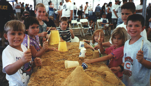 Shark Tooth Kids show their tools and smiles